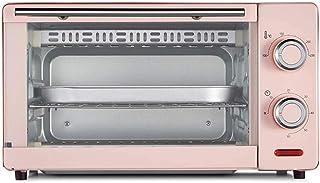 HZY 11L mini horno, horno de banco 1000W 60 minutos Momento Doble Grill Incluye separados escoria bandeja 8 alas de pollo, 8 pulgadas de la torta de gasa (Color: Rosa), Color: Azul ( Color : Pink )