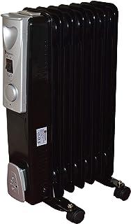 Negro 1500w 1.5kw 7 elementos finos, Radiador de Aceite & Habitación Calefactor