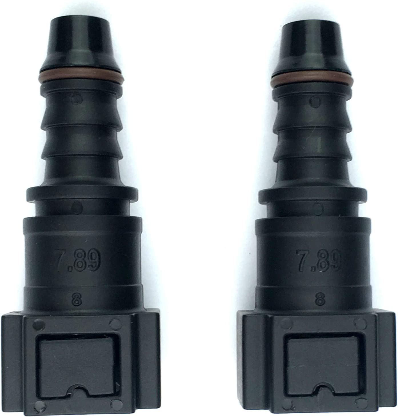 Pack of 2 Fuel Line Quick Connector 1//4 Bundy Female to Barb Straight for 1//4 Steel to 1//4 inch ID Nylon Tubing