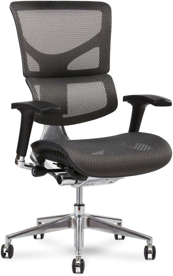 X-Chair X2 Management Task Chair, Grey K-Sport Mesh