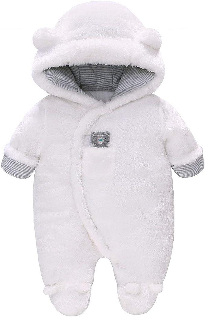 Beb/é Ni/ños Traje de Nieve Mameluco Invierno Infantil Mono con Capucha Trajes Algod/ón Pelele Grueso Acolchado Trajes Arco Iris 0-3 Meses