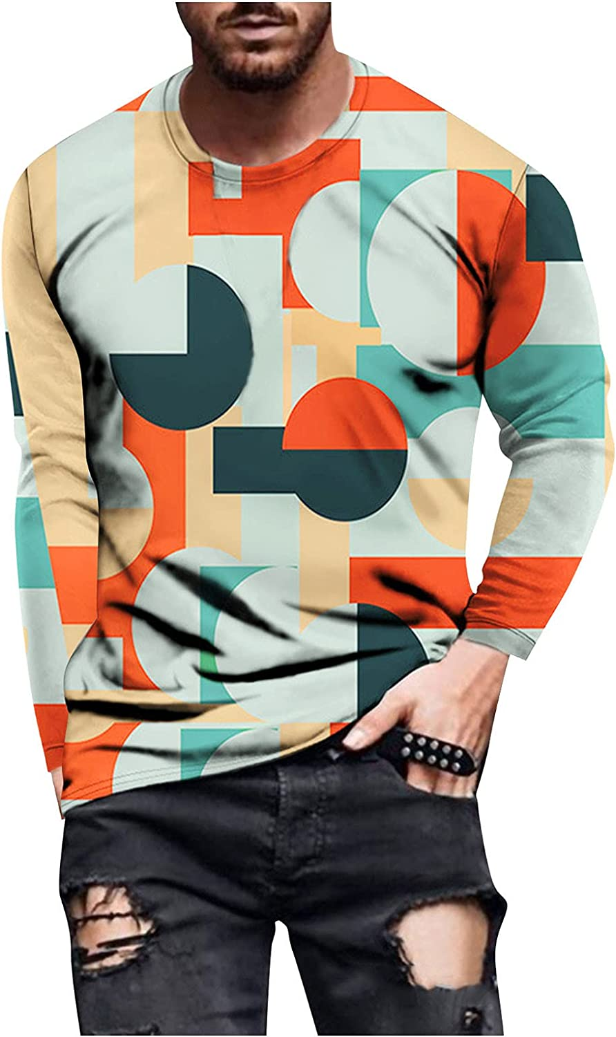 DZQUY Mens Athletic Muscle Workout T-Shirts Bodybuilding Long Sleeve Slim Fit Hipster Hippie Casual Shirts Athletic Tops