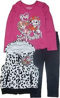 Nickelodeon Little Girls' Paw Patrol Three-Piece Vest Set with Legging