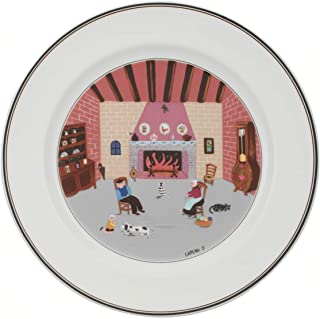 Villeroy & Boch 10-2337-2626 Design Naif Dinner Plate #5-By the Fireside, 10.5 in, White/Colorful