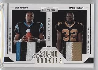 Mark Ingram; Cam Newton #19/50 (Football Card) 2011 Panini Rookies & Stars - Studio Rookies Combos - Materials Prime [Memorabilia] #1