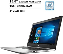2019 Newest Dell Inspiron 15 5570 15.6 Inch Touchscreen FHD 1080p Laptop (Intel 4-Core i7-8550U up to 4.0GHz, 16GB DDR4 RAM, 512GB SSD, Intel UHD 620, Backlit KB, Windows 10)