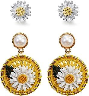 JEVI عباد الشمس بوهو سوار مجوهرات الصداقة للنساء فتاة صديقة أساور مسافة يدوية لـ 2