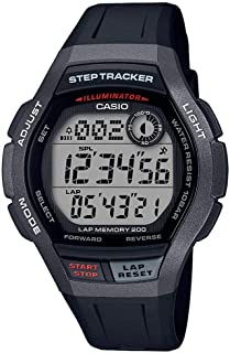 Casio WS-2000H-1AVDF Resin Round Digital Watch for Boys - Grey and Black