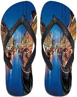United States Stylish Flip Flops,Urban Cityscape Bridge,for Men&Boys