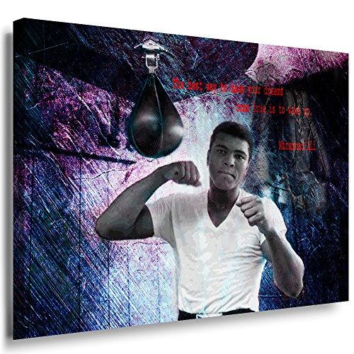 Julia-Art Leinwandbilder - Muhammad Ali Boxer Aller Zeiten Bild 1 teilig - 40 mal 30 cm Leinwand auf Rahmen - sofort aufhängbar Wandbild XXL - Kunstdrucke QN48-1