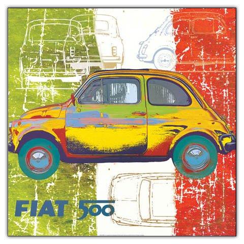 Artopweb Salvini Pop 500 II 50x50 cm decoratief paneel, MDF (middeldichte vezelplaat), papier, veelkleurig, 50 x 50 cm
