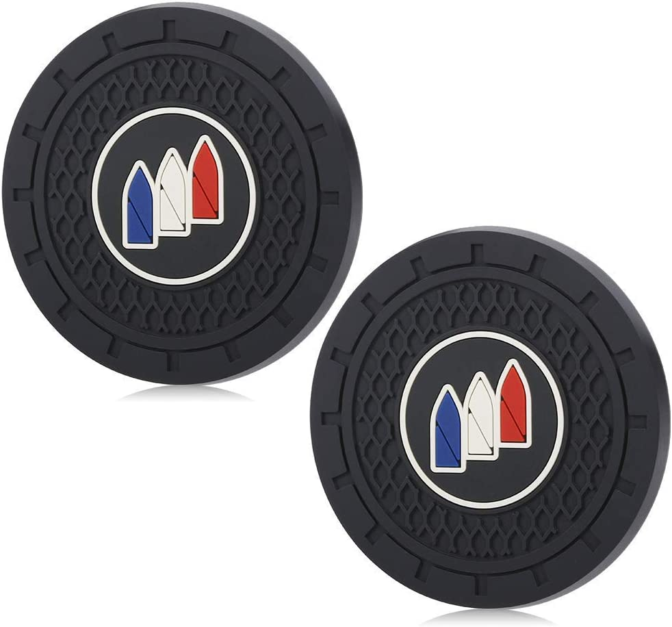Wall Stickz car Sales 2.75 Inch Diameter Oval Tough Car Logo Vehicle Travel Auto Cup Holder Insert Coaster Can 2 Pcs Pack fit amg