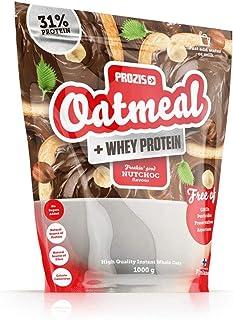 Prozis Oatmeal con Whey Protein 1000g - Cereales Repletos de Hidratos de Carbono de Alta Calidad y Fibras Saciantes - Sabor NutChoc - Apto para Vegetarianos - Cardiosaludable - 12 Dosis