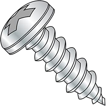 1//4-14 Thread Size Zinc Plated Phillips Drive Steel Sheet Metal Screw 3//4 Length Type AB Pack of 2000 Truss Head