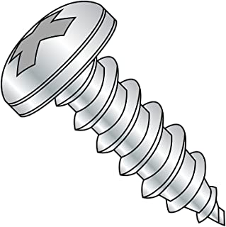 #2-32 Thread Size Type A Steel Sheet Metal Screw Zinc Plated Pack of 100 3//16 Length Pan Head Pozi Drive