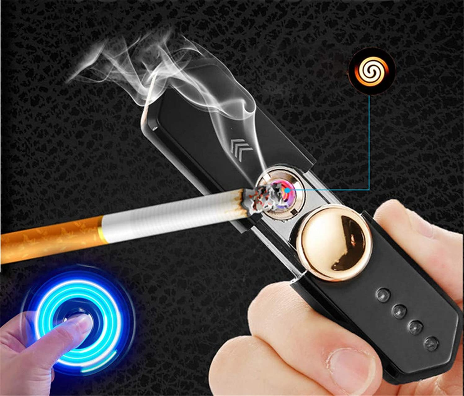 ペデスタル亜熱帯かもしれないLED 軽い 電子ライター USB充電式 電気 usb ライター ライタープラズマ LED懐中電灯 電子 放電式 防水 ミニ携帯USB充電ライター、繰り返し充電することができます.無炎、防風 LED電子ライター USB充電式 アーク点火 LEDラップの色変化 多機能ターボ着火 ガス オイル不要 防風 おしゃれ 高級 安全 キャンプや防災用品 葉巻線香など用 父の日 プレゼント (ゴールド)