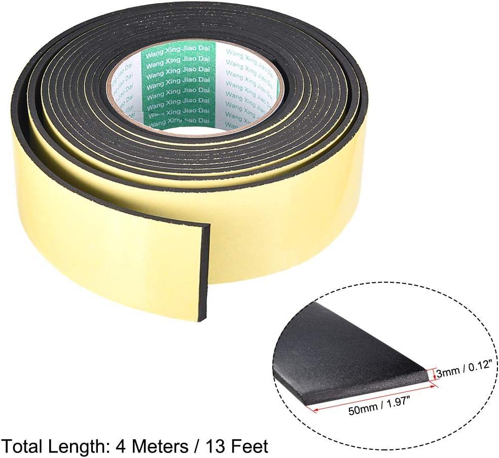 sourcing map Joint mousse ruban 8mm largeur 1mm /épaisseur 16,4 long /étanch/éit/é adh/ésif 2pcs