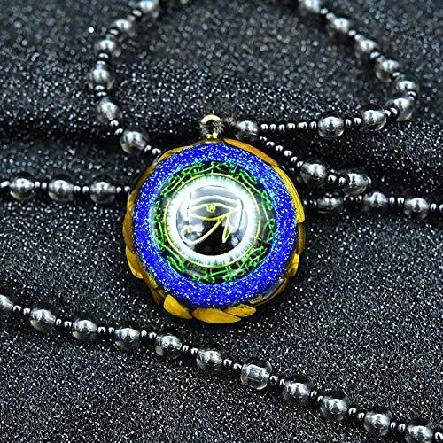 Colgante De Orgon del Símbolo De Reiki, Joyería Pendiente De La Resina del Cristal Natural del Ojo De Horus