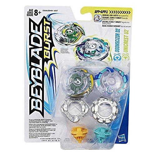 Beyblade Burst Dual Pack Doomscizor D2 and Unicrest U2