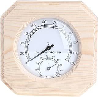 Best Design Sauna Room Wood Thermometer Hygrometer Hygrothermograph Temperature Instrument, Barrel Sauna Wood - Sauna Ladle, Wood Used In Saunas, Sauna Buckets, Rh Meter, Outdoor Steam