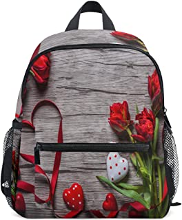 Backpack Valentines Day Background With Chocolates Hearts And Red Tulips Mini Lightweight Bag for Unisex