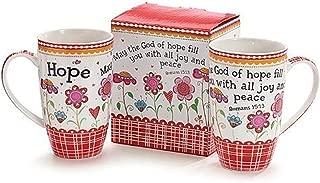 1 X May God of Hope Romans 15:13 Coffee Tea Mug Cup 16oz Gift Box