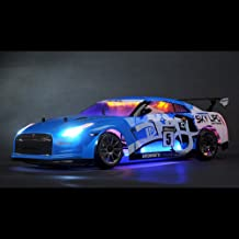 Exceed RC 2.4Ghz MadSpeed Drift King Brushless Edition 1/10 Electric Ready to Run Drift Car w/ LED Head Lights (Blue)