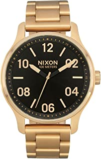 Nixon Men's Patrol SS Watch Gold Black 42mm