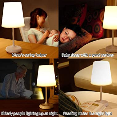 Aoemone LED Desk Lamp with Remote Control USB Charging Reading Eye Protection Table Lamp Touch Dimming Bedside Bedroom Night