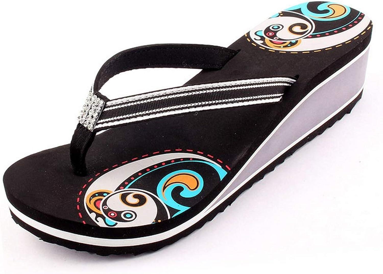 Women's Flip Flops Wedge Chunky High Platform Comfortable Stylish Thong Beach Sandals