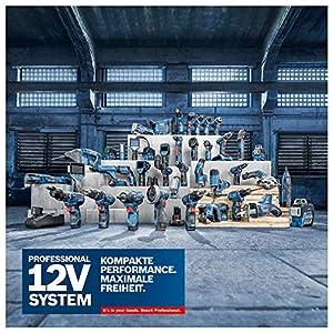 Bosch Professional 12V System Akku Stichsäge GST 12V-70 (Schnitttiefe in Holz: 70 mm, inkl. 2x Sägeblatt, Gleitschuh, Spanreißschutz, 2x 3.0Ah Akkus und Ladegerät, in L-Boxx)