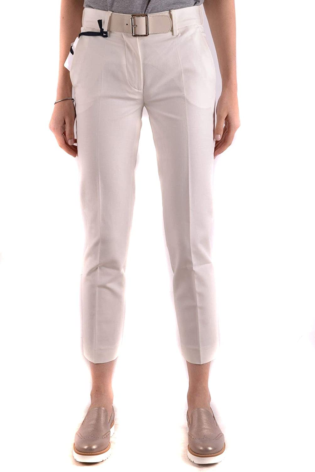 Moncler Women's MCBI31738 White Cotton Pants