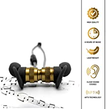 Bluetooth Earbuds Wireless in-Ear Earphones for iPhone & Android | Indoor, Outdoor, Gym Sport | CVC 6.0 Noise Cancelling, Apt-X Stereo | Magnetic, Sweatproof | Up to 7 Hours of Playback.
