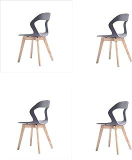 00 Modernas sillas Huecas de Moda, con Patas de Madera Maciz