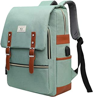Unisex College Bag Fits up to 15.6'' Laptop Casual Rucksack School Backpack Daypacks (LightGreen)