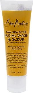 Shea Moisture Raw Shea Butter Facial Wash And Scrub For Unisex, 118.29 ml
