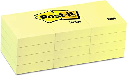Post-it 653 Greener Recycled Note Pad - Yellow