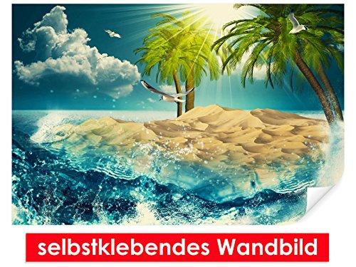 Image murale auto-adhésif Dream Beach – Facile à coller – Wall Poster Print, Wall Paper,, film vinyle avec point décoratif pour murs, portes, meubles et toutes les surfaces lisses de Trend murs, 90 x 60 cm