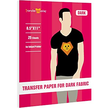 Inkjet Heat Transfer Paper  200 SHEETS 8.5x11 Blue Line InkJet Dark
