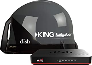 KING VQ4550 Tailgater Bundle – Portable Satellite TV Antenna and DISH Wally HD Receiver