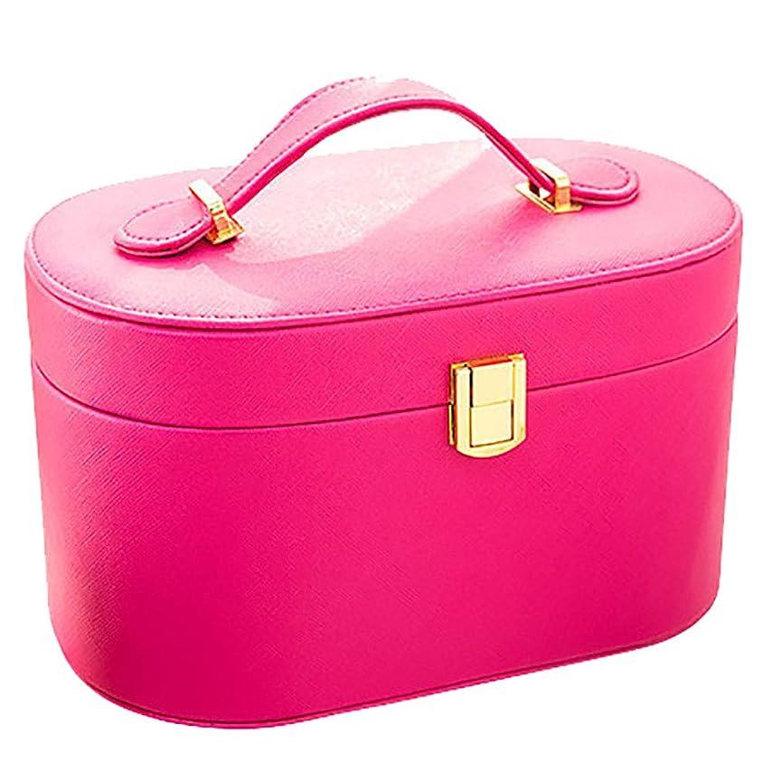 変装教えるスカート化粧品バッグ旅行化粧品ケース大容量レディース化粧品保管袋防水可愛い小さな携帯用洗濯バッグは、赤24 * 14 * 14CMをバラ