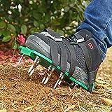 QYHH Aireador de Cesped Zapatos, Sandalias con Púas de Aireador de Césped de Jardín, 4 Correas Ajustables Seguras, Tamaño Universal para Todos Los Zapatos o Botas