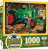 MasterPieces Farm Country Linen Jigsaw Puzzle, The Restoration, Featuring Art by Charles Freitag, 1000 Pieces