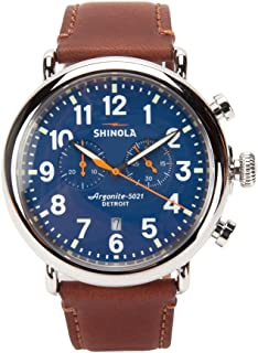 Shinola Runwell Chrono 47mm Blue Dial/Teak Leather S0110000047 Blue/Teak
