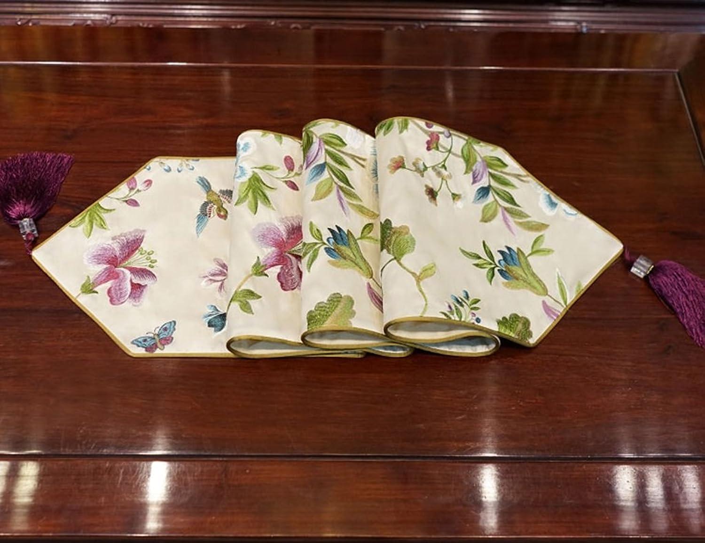 The taste of home Tovaglia Lunga tavolino Piano Doppio Strato, Tessuto Fodera Paesaggio Paese -30  180cm (Dimensione   30  200CM)