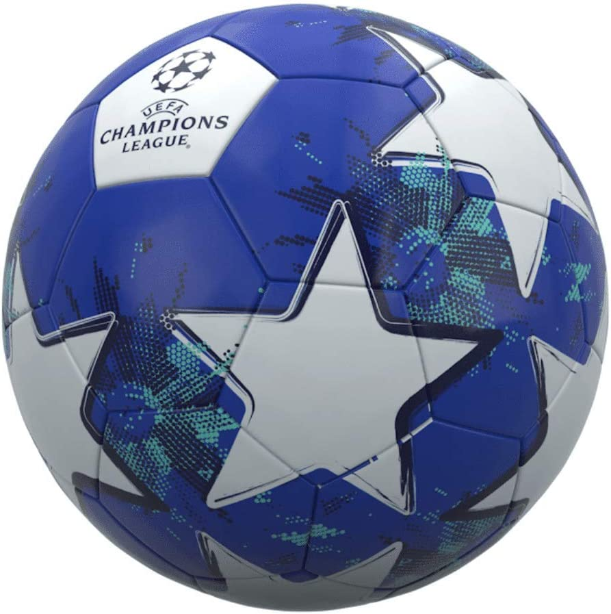 uefa champions league football size 5 blue white amazon co uk clothing uefa official champions league football star design size 5