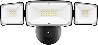 Amico 3500LM LED Security Light, 30W Outdoor Flood Light, Daylight White, IP65 Waterproof with 3 Adjustable Heads for Gara...