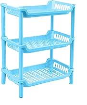 Staand kruidenrek met 3 niveaus, keuken gevuld, badkamer werkbladen, organizer, staand opbergen, blikjes, rek, houder voor...