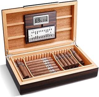 LBLMSB Cigar Box, Natural Cedar Wood Piano Paint Constant Temperature and Humidity Cigar Box, Multi-Zone Storage Cigar Humidor Latest Styles