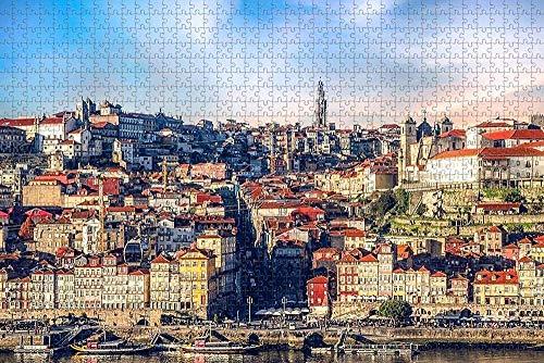 BZAHW Rompecabezas Puzzle 1000 Puzzle Rompecabezas Puzzle Oporto, Portugal educativos para niños Arte DIY Juguetes